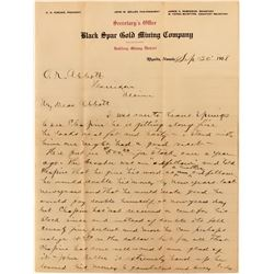 Black Spar Gold Mining Private Letter  (112100)