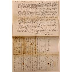 Handwritten Letter Discussing Gems and Minerals  (112113)