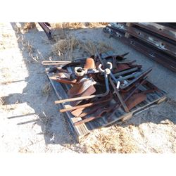Pallet of rail tongs, shovel heads, pick heads  (114188)