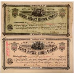 Silver Nugget Mining Company Stock Certificate Pair  (110942)