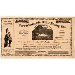 Cerro-Colorado Mill & Mining Co. Stock Certificate  (107781)