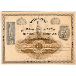 Milwaukee Gold & Silver Mining Co. of Arizona Stock, 1884  (112816)