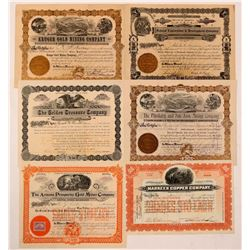 Six Arizona Corporations Issued between 1902 and 1910  (110866)