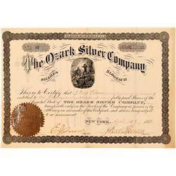 Ozark Silver Company Stock Certificate  (107774)