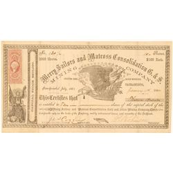Merry Sailors and Matross Consolidation G. & S. Mining Co, Silver Mountain, 1864  (111375)