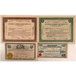 Keystone Consolidated Mining Co. Stock Collection  (107855)