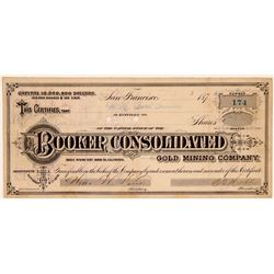 Booker Consolidated Gold Mining Co., Bodie, CA  (110861)