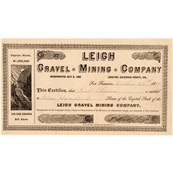 Leigh Gravel Mining Company, Calaveras Co. 1889  (111391)