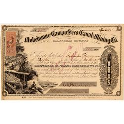 Mokelumne & Campo Seco Canal & Mining Co. Stock Certificate  (106930)