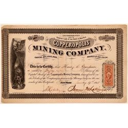 Copperopolis Mining Company Stock Certificate  (107857)