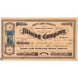 Happy Camp Hydraulic Mining Company Stock Certificate  (107777)