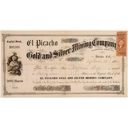 El Picacho Gold & Silver Mining Company Stock Certificate--No. 2  (106963)
