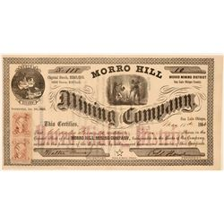 Morro Hill Mining Co Stock, San Luis Obispo County, Cal. 1864  (111353)