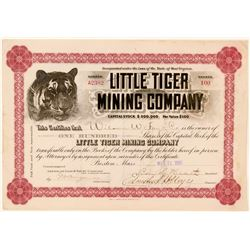 Little Tiger Mining Co. Stock, Yreka, Cal. 1900  (111372)