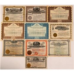 California Mining Stock Certificate Collection  (107836)