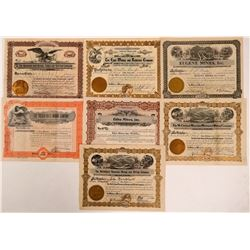 Seven Clear Creek County, Colorado Mining Stock Certificates  (107858)