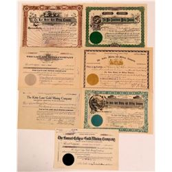 Seven Different Cripple Creek Mining Stock Certificates   (107854)