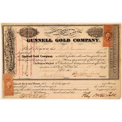 Gunnell Gold Company Stock Certificate  (107800)