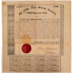 Ophir Gold Mining Company Bond  (107779)