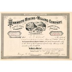 Mammoth Mining & Milling Stock, Leadville, 1886  (111386)