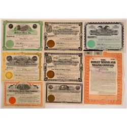 Eight Different Colorado Mining Stock Certificates  (107833)