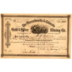 Massachusetts & Colorado Gold & Silver Mining Company Stock   (111387)