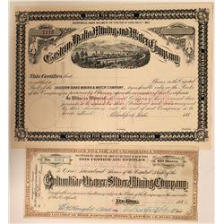 Two Idaho Mining Socks: Columbia & Beaver and Eastern Idaho mining and Water  (110939)