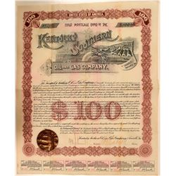 Kentucky Southern Oil & Gas Company Bond, Louisville, 1890  (111331)