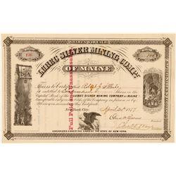 Lubec Silver Mining Company- Rare pre- 1880 Maine Silver Stock  (111381)