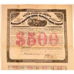 Maryland Freestone Mining & Manufacturing Co. Bond  (107802)