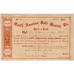 North American Gold Mining Company Stock, 1865  (112968)