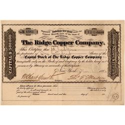 Ridge Copper Company Stock Certificate  (107803)