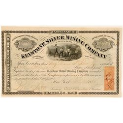 Keystone Silver Mining Company Stock, Reese River, 1866  (111377)