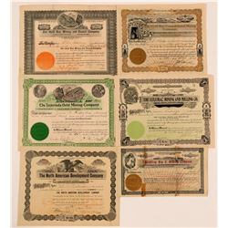 Bullfrog and Rhyolite, Nevada Stock Certificates Group  (111004)