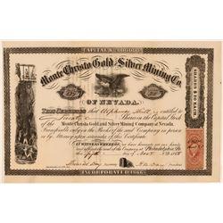 Monte Christo Gold & Silver Mining Co. of Nevada, 1868  (111351)