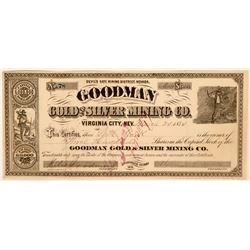 Goodman Gold and Silver Mining Company stock, 1874, Middle of the Great Mining Rush  (110926)