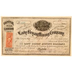 Lady Bryan Mining Company Stock, Flowery District, 1869  (111379)