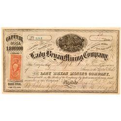 Lady Bryan Mining Company Stock, Flowery District, 1869  (111379)