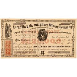 Lucy Ella Gold & Silver Mining Stock, Gold Hill, N.T. 1863  (111407)