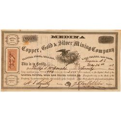 Medina Copper, Gold & Silver Mining Co., Gold Hill, N.T. 1863  (111364)