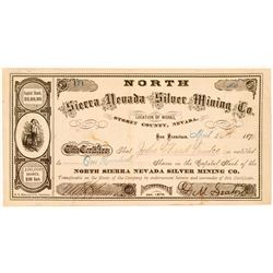 North Sierra Nevada Silver Mining Co Stock, 1876  (111366)