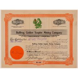 Bullfrog Golden Sceptre Mining Co.  (110852)