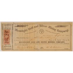 Moonlight Gold & Silver Mining Co Stock, Indian Dist., N.T. 1864  (112877)