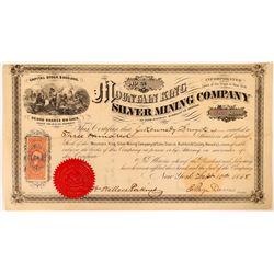 Mountain King Silver Mining Co Stock, Echo Dist. Humboldt Co., NV. 1868  (112875)