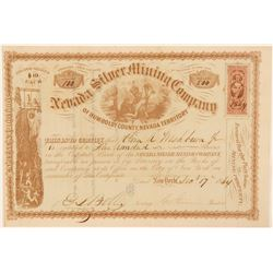 Nevada Silver Mining Company of Humboldt County Stock, NV, 1864  (111405)