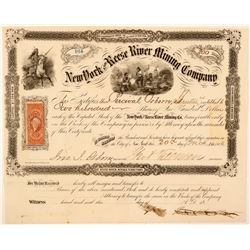 New York & Reese River Mining Company Stock, 1866  (111402)