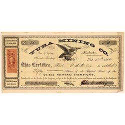 Yuba Mining Company Stock Certificate  (107811)