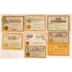 Manhattan, Nevada Stock Certificates- Group 2 ( Includes a Stock Certificate #1)  (111011)