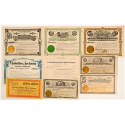 Manhattan, Nevada Stock Certificates- Group 3  (111012)