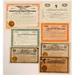 Manhattan, Nevada Stock Certificates- Group 4  (111013)
